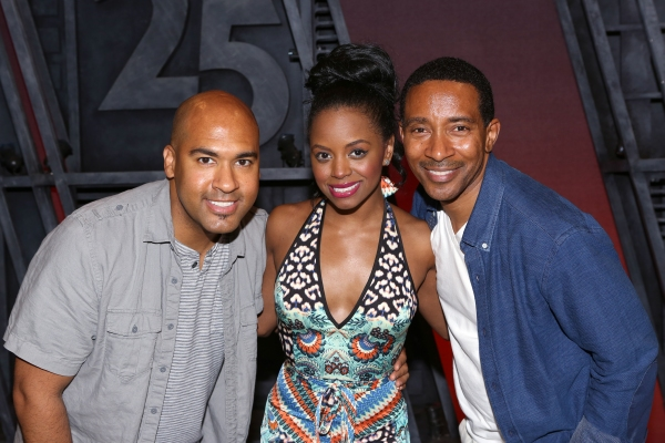 Josh Tower and Krystal Joy Brown with director Charles Randolph-Wright  Photo