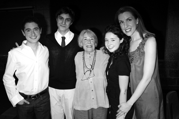 Jason Fuchs,  Gideon Glick, Sarah Steele, Mary Rodgers Guettel  & Susan Blackwell attend the Opening Night of the Roundabout Theatre Company''s Production of SPEECH & DEBATE at the Black Box Theatre in New York City. October 29, 2007