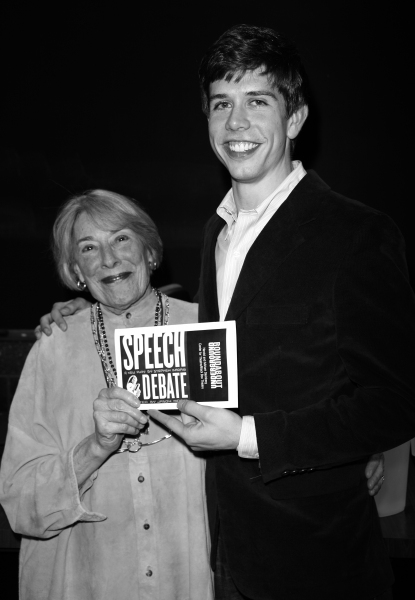 Mary Rodgers Guettel & Stephen Karam at the Opening Night of the Roundabout Theatre Company''s Production of SPEECH & DEBATE at the Black Box Theatre in New York City. October 29, 2007