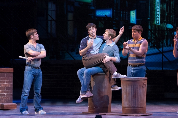 Welcome comedy relief arrives in Music Theatre Wichita''s ''West Side Story'' as Snowboy (Tanner Pflueger), Action (Jacob Chancellor), Baby John (Matt Borchers), Diesel (Alexander H. Miller) and the Jets perform ''Gee, Officer Krupke''