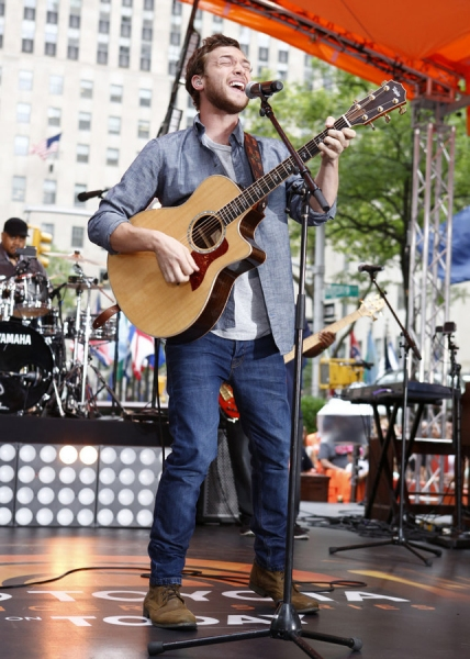 TODAY -- Pictured: Phillip Phillips appears on NBC News'' ''Today'' show -- (Photo by: Peter Kramer/NBC)
