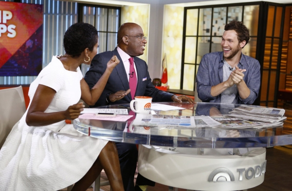 TODAY -- Pictured: (l-r) Tamron Hall, Al Roker and Phillip Phillips appear  on NBC News'' ''Today'' show -- (Photo by: Peter Kramer/NBC)