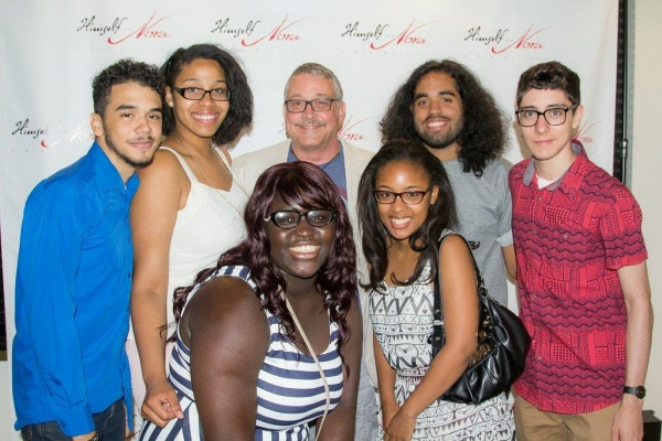 Himself and Nora director Michael Bush with his students