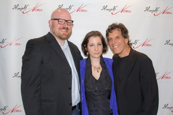 Sound designer Brad Berridge, costume designer Sara jean Tosetti and Jonathan Brielle Photo