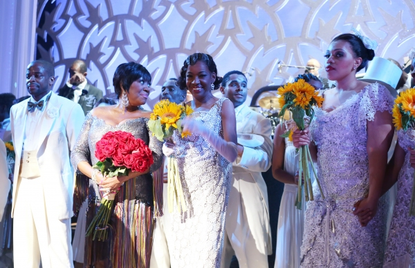 Dule Hill, Patti LaBelle, Adriane Lenox and Carmen Ruby Floyd with the ensemble cast