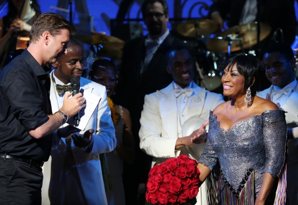 Director Warren Carlyle, Dule Hill and Patti LaBelle with the ensemble cast
