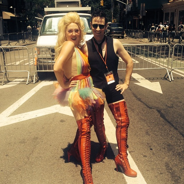 Natalie Joy Johnson Rocks Actual Kinky Boots At Gay Pride 2014