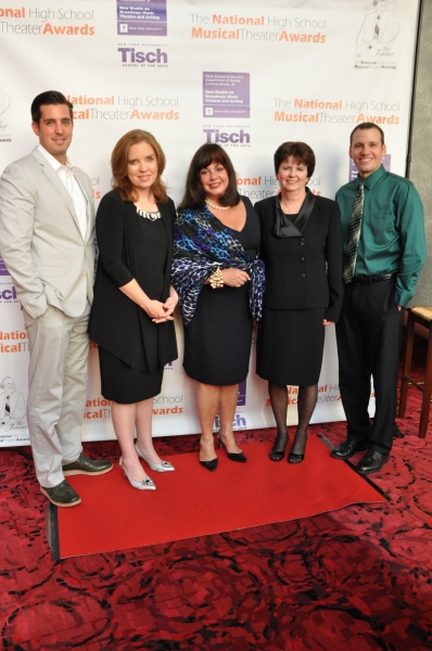 Charlotte St. Martin with the Apple Award Winners-Vincent Gasseto, Holly Valentine, Maureen Binienda and Brian Sammons