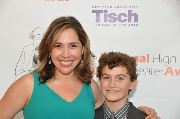 Andrea Burns and her sonHudson Flynn