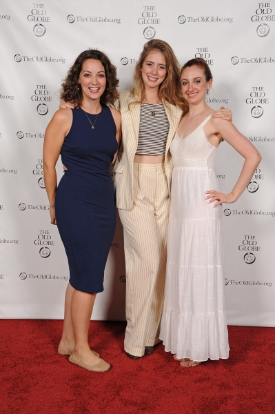 Cast member Megan M. Storti, Charlotte Bydwell, and Lindsay Brill