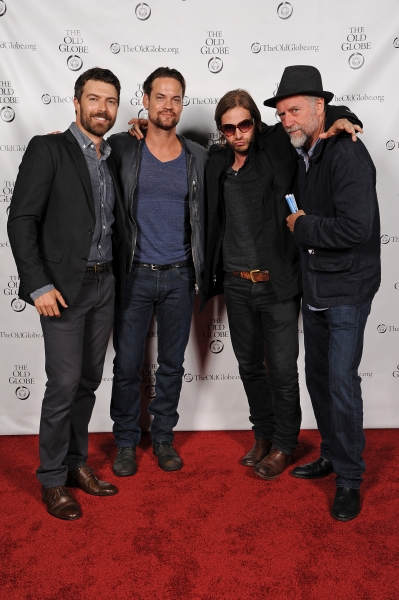 Cast member Noah Bean and his ''Nikita'' costars, Shane West, Aaron Stanford, and Xander Berkeley