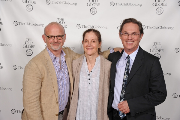 Michael Wilson, Hallie Foote, and cast member Richard Thomas (who recently teamed up for Camp David at Arena Stage)