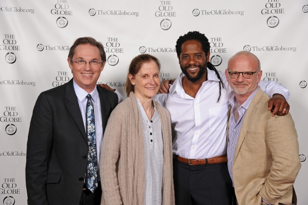 Cast member Richard Thomas, Hallie Foote, cast member Blair Underwood, and Michael Wilson