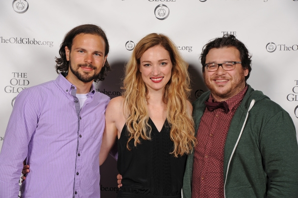 Cast members Jonny Orsini and Kristen Connolly with Christopher Peña