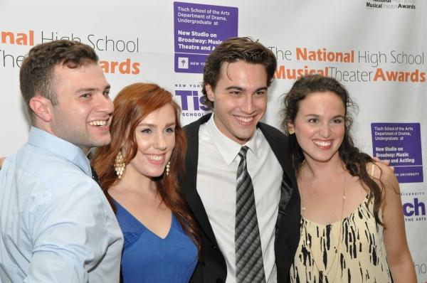 Ryan McCartan with friends-Meryn Beckell, Alison McCartan and Trey Harrington