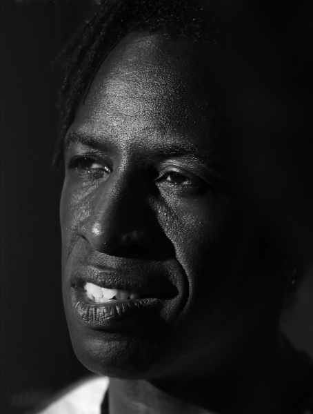 Saul Williams photographed on June 19, 2014 at Gotham Hall in New York City.