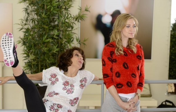 WORKING THE ENGELS -- ''Jenna''s Friend'' Episode 105 -- Pictured: (l-r) Andrea Martin as Ceil Engel, Azura Skye as Sandy Engel-Karinsky  -- (Photo by: Steve Wilkie/NBC)