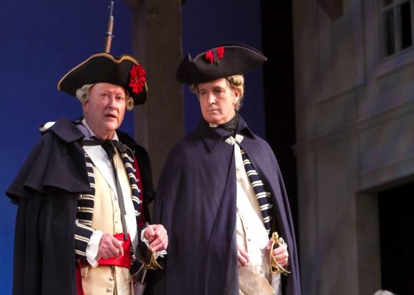 "The well-mannered General Burgoyne, nicknamed �""Gentlemanly Johnny"" (Edmond Genest) and weary Major Swindon (Matt Sullivan)."