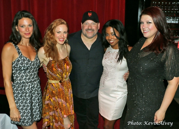 Jackie Burns, Teal Wicks, Frank Wildhorn, Adrienne Warren and Jane Monheit