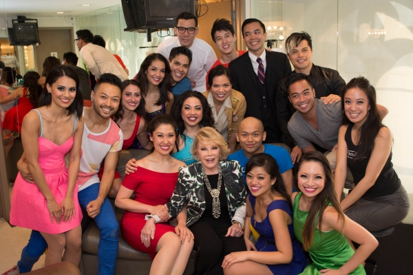 Joan Rivers with the Cast of HERE LIES LOVE