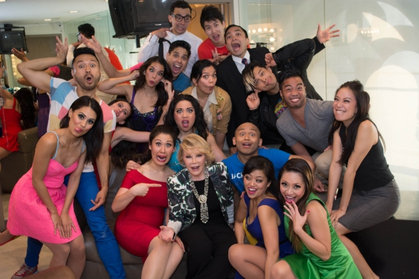 Joan Rivers with the Cast of HERE LIES LOVE Photo
