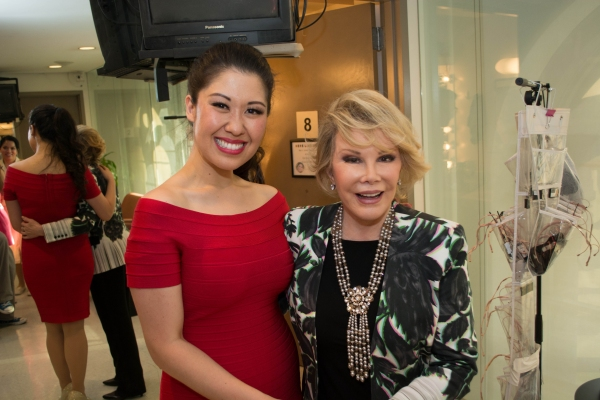 Joan Rivers with Ruthie Ann Miles who plays Imelda Marcos