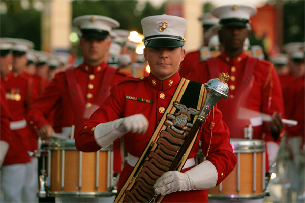 U.S. Marines Drum & Bugle Corps Perform HAIRSPRAY Live