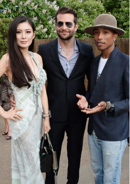 Rebecca Wang, Bradley Cooper and Pharrell Williams