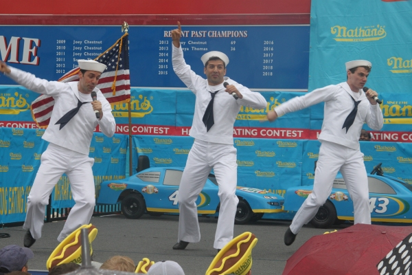 Exclusive Photo Coverage: ON THE TOWN Stars Perform at Nathan's Fourth of July Hot Dog Eating Contest!
