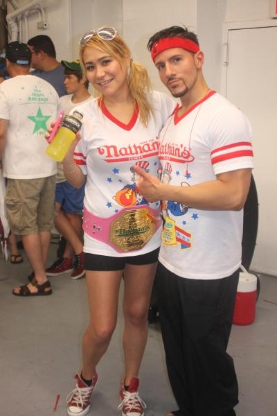 Miki Sudo and Juan Rodriguez Photo
