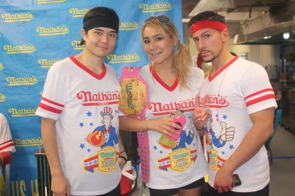 Matt Stone, Miki Sudo and Juan Rodriguez
