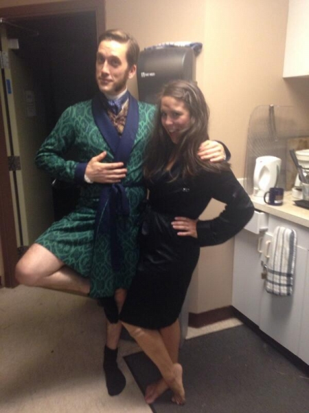 Photo Flash: Saturday Intermission Pics, Part 2 - 7/5 - NEWSIES Enjoy Theatre Life, KINKY BOOTS Preps for Act 2, and More