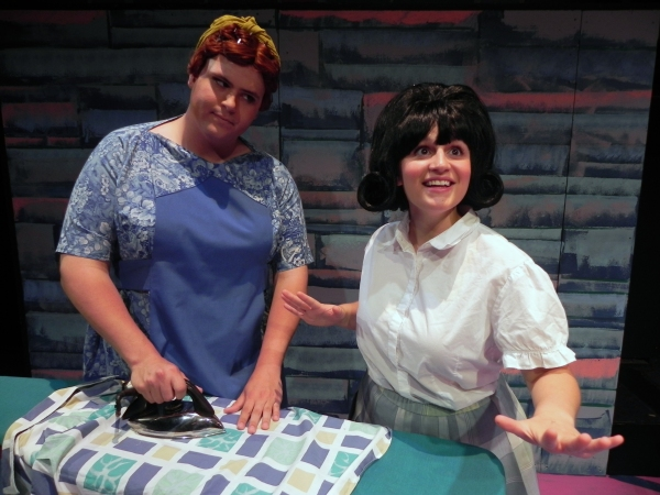 Daniel Mollett (Edna) and Angela DiCocco (Tracy)