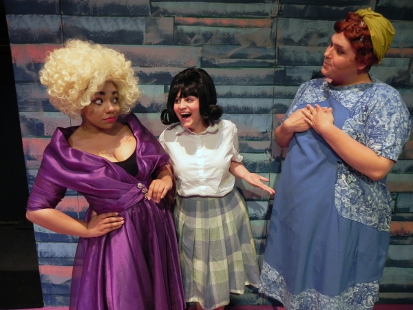 Zoe Lathan (Motormouth), Angela DiCocco (Tracy) and Daniel Mollett (Edna)