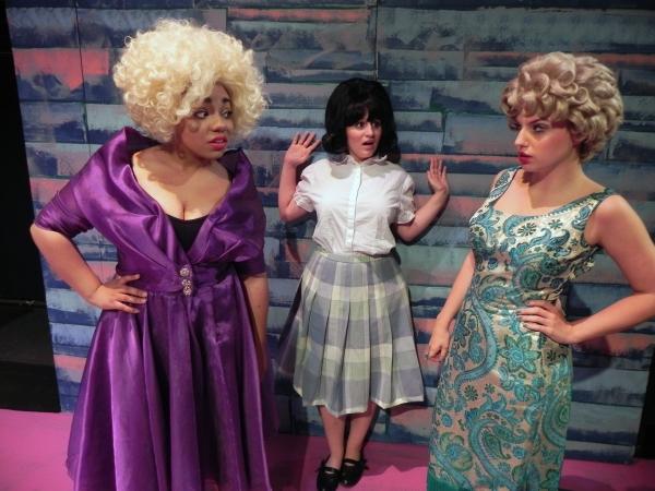 Zoe Lathan (Motormouth), Angela DiCocco (Tracy) and Kelly Hogan (Velma)