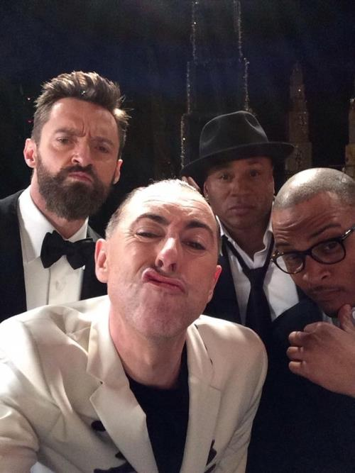 Hugh Jackman & Alan Cumming Share Selfie With Rap Stars Backstage At 2014 Tony Awards