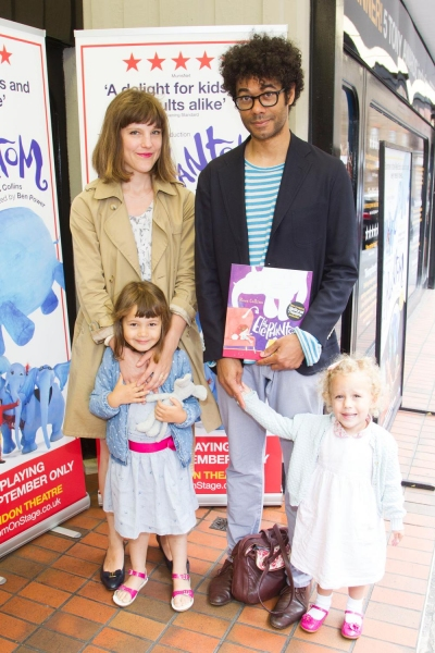 Richard Ayoade and family at the ELEPHANTOM opening
