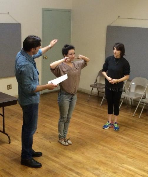 J Anthony Crane, Holland Mariah Grossman with choreographer Misha Sheilds Photo