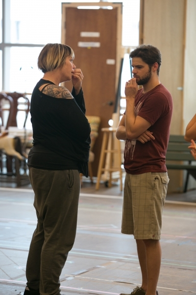 Choreographer Mia Michaels and Jeremy Jordan