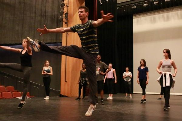 Luke Hawkins and BDF LA students