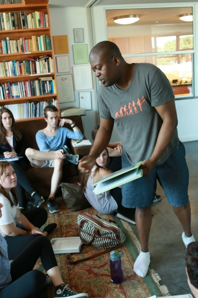 Tituss Burgess working with BDF LA students