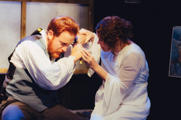 Jordan Foote as Vincent van Gogh and Nicole Jeannine Smith as Marguerite