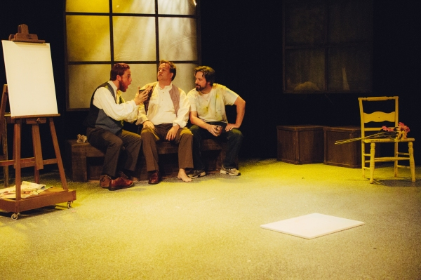 Jordan Foote as Vincent van Gogh, Ned Averill-Snell as Paul Gauiguin and Steve Fisher as Patrick Stone