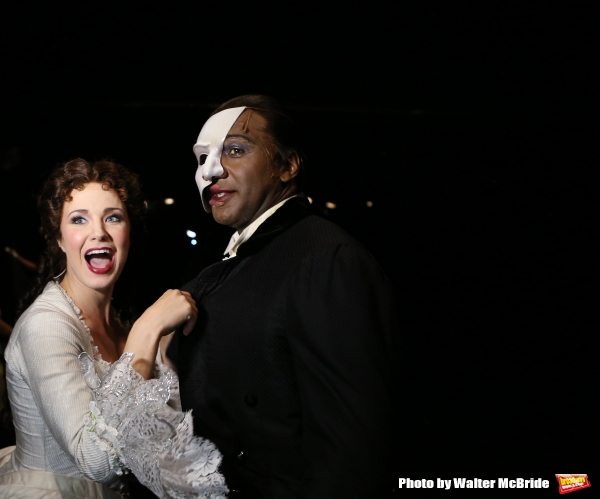 Photo Coverage: Norm Lewis, Sierra Boggess & THE PHANTOM OF THE OPERA Cast Celebrate 11,000 Backstage!