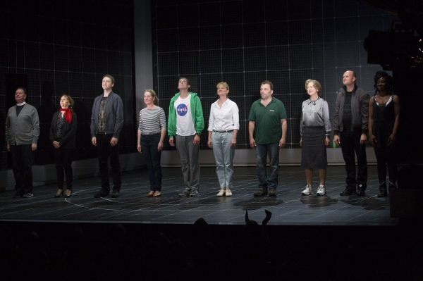 Tony Turner (Reverend Peters), Victoria Willing (Mrs Shears), Daniel Casey (Roger Shears), Emily Joyce (Judy), Graham Butler (Christopher Boone), Sarah Woodward (Siobhan), Nicolas Tennant (Ed), Gay Soper (Mrs Alexander), Sam Bond (Ensemble) and Vivienne A