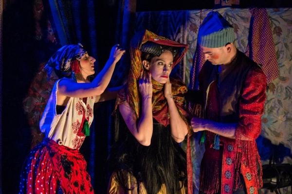 Liliya Sotirova as a Mummer, Juliana Francis Kelly as The Devil, Tavish Miller as The Dancer