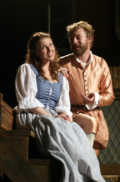"""Meg Warner (â€Å""""Anne Pageâ€Â�) and Fred Geyer (â€Å""""Fentonâ€Â�)"""