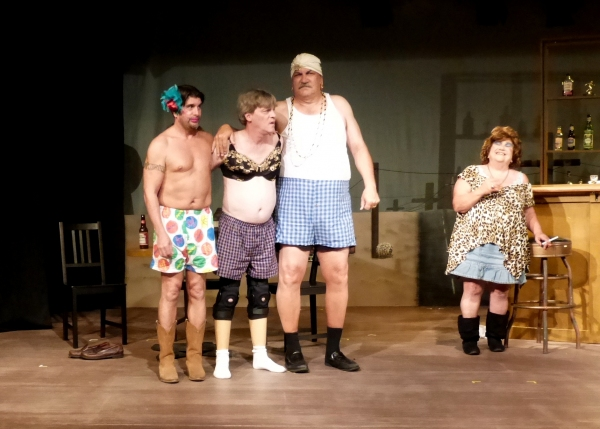 ''This is the best floor show ever!'' (from left) Eduardo Mora, Harold Dershimer, Dave Parke, Kip Hogan