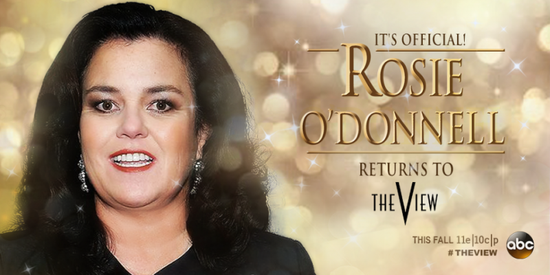 CONFIRMED! Rosie O'Donnell to Return as Co-Host of ABC's THE VIEW!