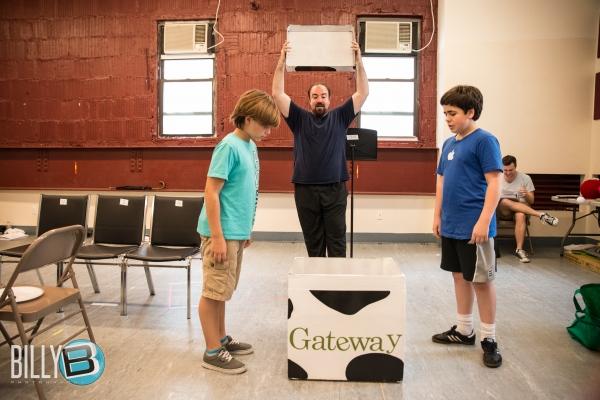 Lucas Schultz (YOUNG KURT), Adam Shapiro (SANTA) and Noah Marlowe (YOUNG PETER) Photo